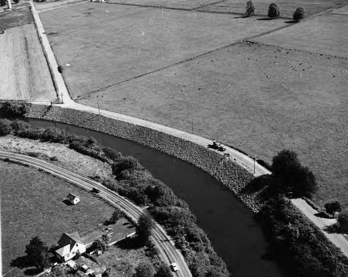 Revetment on the Green River at Tukwila ca 1963