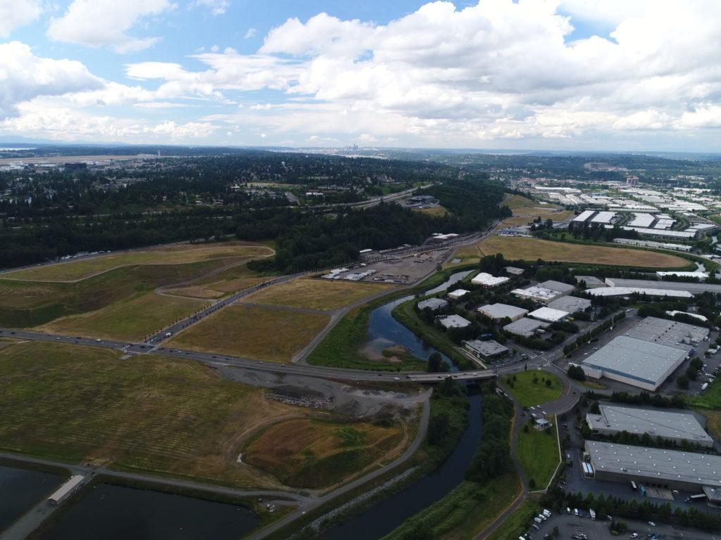 aerial view rural land